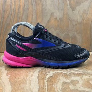Brooks Women's Launch 4 Running Black Pink Blue